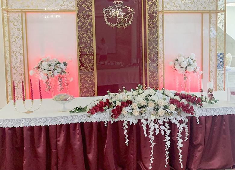 фото свадьбы цвета марсала