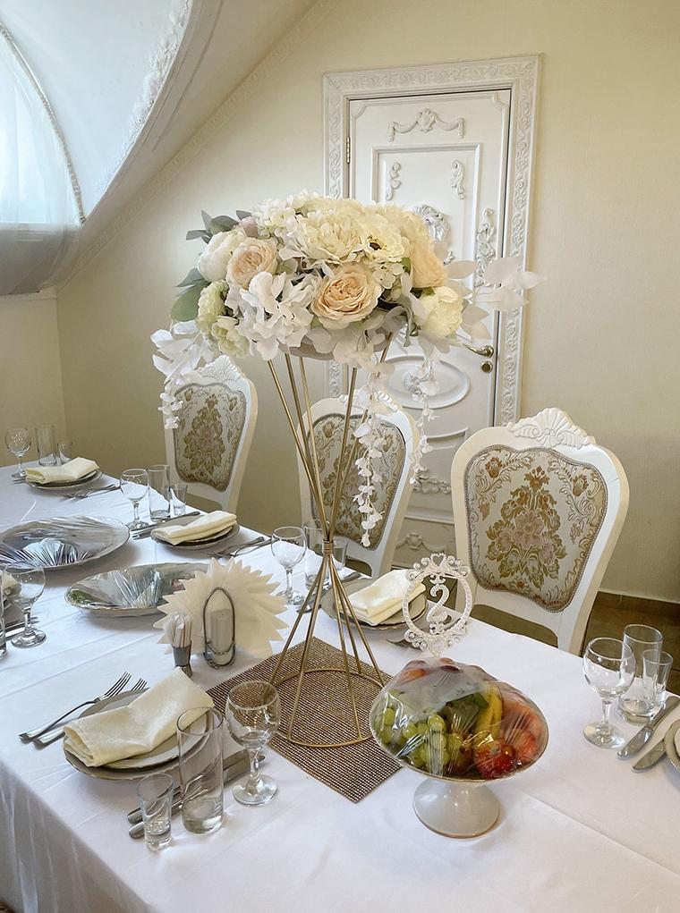 фото цветочного декора стола