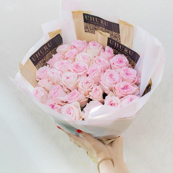 фото Пионовидной Розы Пинк Охара